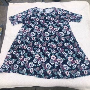Agnes and Dora Swing Tunic- Navy with floral